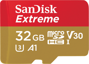 SanDisk Extreme microSDHC 32GB 100MB/s A1 V30