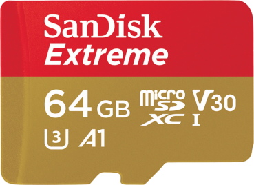 SanDisk Extreme microSDHC 64GB 100MB/s A1 V30