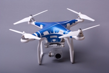 Phantom 3 Skins Carbonblau