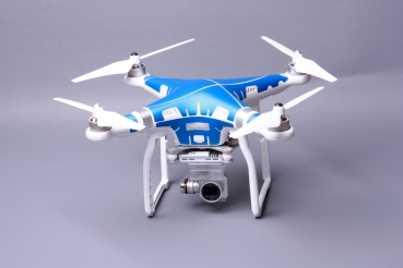 Phantom 3 Skins Metallblau