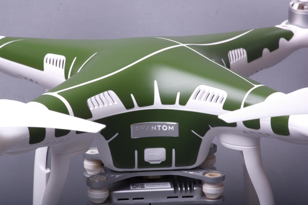 dji produkte vom direktimporteur phantom 3 skins oliv. Black Bedroom Furniture Sets. Home Design Ideas