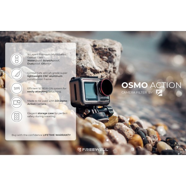 Freewell Light Pollution Reduction Filter für DJI Osmo Action